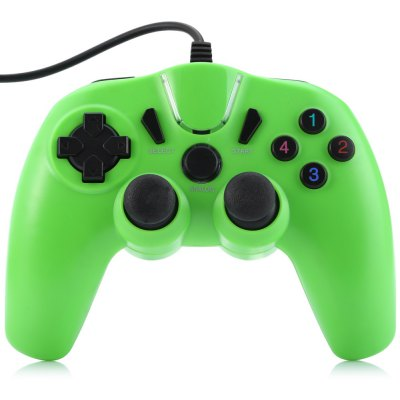 Фотография USB Wired Game Console Gamepad for PC with Double Motor Vibration
