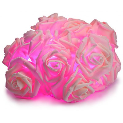 20 LEDs Emulational Rose Flower Decorative Lamps