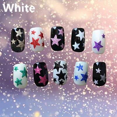 DIY Glitter Star Nail Art Decoration Sticker