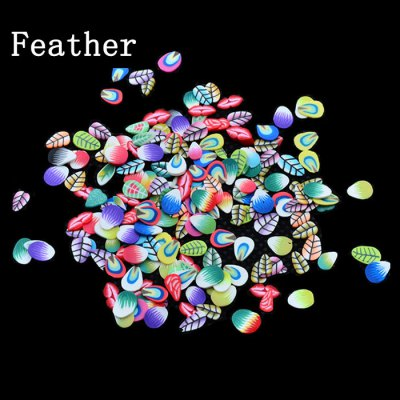 1000Pcs / Pack Fashion Fruit Flower Style Tiny Fimo Slice Polymer Clay DIY Manicure Decoration