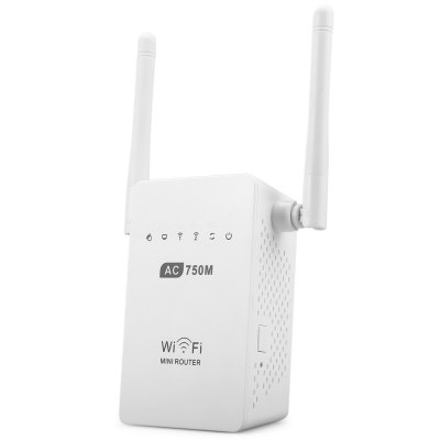 LV-AC02 750M 2.4GHz / 5GHz Wireless Router with 2 3dBi Antenna Support 100M LAN