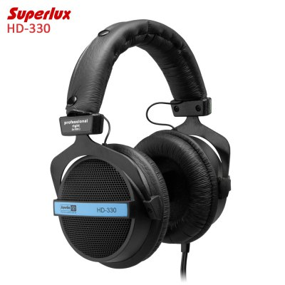Superlux HD-330 Audiophile HiFi Stereo Studio Headphones Enhanced Bass