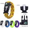 5PCS 5 Functions in 1 Outdoor Survival Paracord Bracelet photo