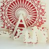 Cute 3D Paper Hollow Out Christmas Postcards deal