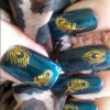 cheap DIY 3D Feather Style Nail Art Decoration Sticker