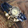 cheap Vintage Style Watch with Butterfly Pendant and Knitting Leather Watch Band