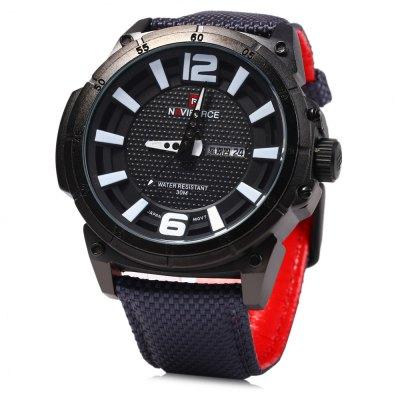Naviforce 9066 Day Date Display Men Quartz Watch