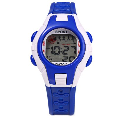 Multifunctional Digital Sports Kids Wrist WatchKids Watches<br>Multifunctional Digital Sports Kids Wrist Watch<br><br>Watches categories: Children watch<br>Watch style: LED<br>Movement type: Digital watch<br>Shape of the dial: Round<br>Display type: Digital<br>Case material: PC<br>Band material: Rubber<br>Clasp type: Pin buckle<br>Special features: Day,Date,Alarm Clock<br>The dial thickness: 1.0 cm / 0.39 inches<br>The dial diameter: 3.5 cm / 1.38 inches<br>The band width: 1.5 cm / 0.59 inches<br>Wearable length: 13.5 - 19 cm / 5.31 - 7.48 inches<br>Product weight: 0.022 kg<br>Package weight: 0.052 kg<br>Product size (L x W x H): 22.000 x 3.500 x 1.000 cm / 8.661 x 1.378 x 0.394 inches<br>Package size (L x W x H): 23.000 x 4.500 x 2.000 cm / 9.055 x 1.772 x 0.787 inches<br>Package Contents: 1 x  Sports Kids Watch