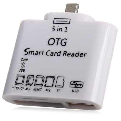 5 in 1 Micro USB OTG Smart Card Reader SD M2 TF Connection Kit