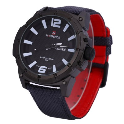Naviforce 9066 Sports Quartz for MenMens Watches<br>Naviforce 9066 Sports Quartz for Men<br><br>Brand: Naviforce<br>Watches categories: Male table<br>Watch style: Casual,Fashion<br>Movement type: Quartz watch<br>Shape of the dial: Round<br>Display type: Analog<br>Hour formats: 12 Hour<br>Case material: Alloy<br>Case color: Black<br>Band material: Nylon<br>Clasp type: Pin buckle<br>Special features: Date,Day<br>Water resistance : 30 meters<br>The dial thickness: 1 cm / 0.39 inches<br>The dial diameter: 4.8 cm / 1.89 inches<br>The band width: 2.3 cm / 0.91 inches<br>Wearable length: 17 - 21 cm / 6.69 - 8.27 inches<br>Product weight: 0.083 kg<br>Package weight: 0.143 kg<br>Product size (L x W x H): 25.00 x 5.30 x 1.00 cm / 9.84 x 2.09 x 0.39 inches<br>Package size (L x W x H): 26.00 x 6.30 x 2.00 cm / 10.24 x 2.48 x 0.79 inches<br>Package Contents: 1 x Naviforce Men Quartz Watch