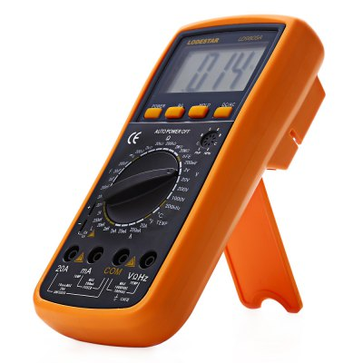 LODESTAR LD9805A LCD MultimeterMultimeters &amp; Fitting<br>LODESTAR LD9805A LCD Multimeter<br><br>Brand: LODESTAR<br>Model: LD9805A<br>Type: Digital Multimeter<br>Certification: CE<br>Max. Display: 1999<br>DC Voltage: 200mV/2V/20V/200V/1000V ±(0.5%+3)<br>AC Voltage: 200mV/2V/20V/200V/700V ±(0.8%+5)<br>DC Current: 2mA/20mA/200mA/20A ±(0.8%+3)<br>AC Current: 2mA/20mA/200mA/20A ±(1%+3)<br>Resistance : 200?/2K?/20K?/200K?/2M?/200M? ±(0.8%+3)<br>Frequency: 200KHz ±(3%+15)<br>Capacitance: 2nF/20nF/200nF/2?F/200?F ±(2.5%+20)<br>Temperature: 0F~1832F ±(0.75%+5) / -40~1000 Degree Celsius ±(0.8%+4)<br>Powered by: 1 x 9V battery<br>Product weight: 0.568 kg<br>Package weight: 0.752 kg<br>Product size (L x W x H): 19.300 x 9.500 x 4.800 cm / 7.598 x 3.740 x 1.890 inches<br>Package size (L x W x H): 23.000 x 15.000 x 5.900 cm / 9.055 x 5.906 x 2.323 inches<br>Package Contents: 1 x LODESTAR LD9805A LCD Multimeter, 1 x 9V Battery, 2 x Test Probe, 1 x Temperature Probe
