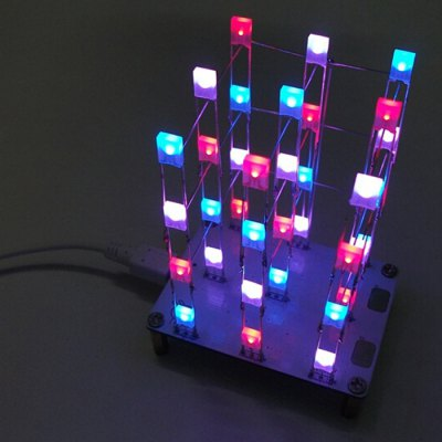 3 x 3 x 4 Color LED Light Cube Kit