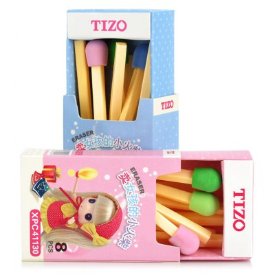 Tizo MK7996 2 x 8 PCS Cartoon Match Style Eraser