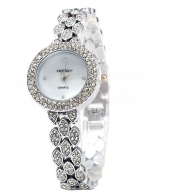 Kingsky 1264 Diamond Ladies Chain Quartz Watch