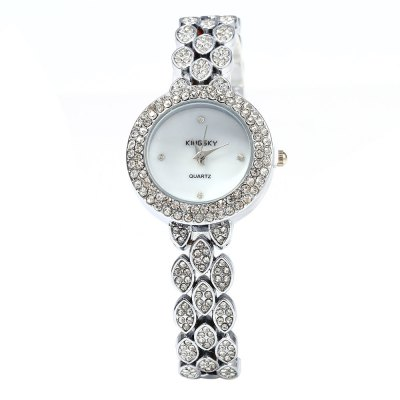 Kingsky 1264 Diamond Ladies Chain Quartz WatchWomens Watches<br>Kingsky 1264 Diamond Ladies Chain Quartz Watch<br><br>Brand: Kingsky<br>Watches categories: Female table<br>Available color: Gold,Silver<br>Style: Fashion&amp;Casual,Bracelet<br>Movement type: Quartz watch<br>Shape of the dial: Round<br>Display type: Analog<br>Case material: Stainless Steel<br>Band material: Stainless Steel<br>Clasp type: Sheet folding clasp<br>The dial thickness: 0.8 cm / 0.32 inches<br>The dial diameter: 3.0 cm / 1.18 inches<br>The band width: 0.6 cm / 0.24 inches<br>Product weight: 0.057 kg<br>Package weight: 0.087 kg<br>Product size (L x W x H): 22.500 x 3.000 x 0.800 cm / 8.858 x 1.181 x 0.315 inches<br>Package size (L x W x H): 23.500 x 4.000 x 1.800 cm / 9.252 x 1.575 x 0.709 inches<br>Package Contents: 1 x Kingsky 1264 Watch