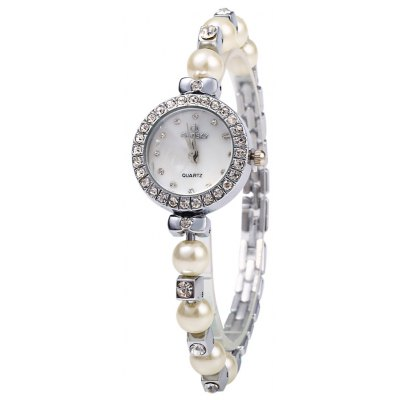 Kingsky 1249 Diamond Ladies Bead Chain Quartz Watch