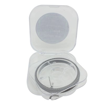 Original Focusecig Clapton Wire BoxAccessories<br>Original Focusecig Clapton Wire Box<br><br>Accessories type: Wicks/Wires<br>Available Color: Silver<br>Brand: Focusecig<br>Material: Nickel<br>Package Contents: 1 x Focusecig Resistance Wire Box ( 5m )<br>Package size (L x W x H): 1.500 x 6.500 x 6.500 cm / 0.591 x 2.559 x 2.559 inches<br>Package weight: 0.060 KG<br>Product weight: 0.045KG<br>Type: Electronic Cigarettes Accessories
