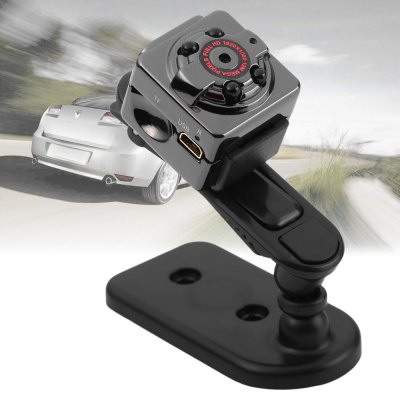 SQ8 Mini DV Camera 1080P Full HD Car DVRCar DVR<br>SQ8 Mini DV Camera 1080P Full HD Car DVR<br><br>Model: SQ8<br>Type: Full HD Dashcam<br>Chipset Name: AnGuo<br>System requirements: Mac OS x 10.3.6 above,Win 7,Windows 2000 / XP / Vista<br>Max External Card Supported: TF 32G (not included)<br>Class Rating Requirements: Class 10 or Above<br>Battery Type: Built-in<br>Charge way: USB charge by PC<br>Working Time: About 100 minutes at 1080P 30fps<br>Camera Pixel : 12MP<br>Decode Format: MJPG<br>Video format: AVI<br>Video Resolution: 1080P (1920 x 1080),720P (1280 x 720)<br>Video Frame Rate: 30fps<br>Image Format : JPG<br>Image resolution: 12M (4032 x 3024)<br>Audio System: Built-in microphone/speacker (AAC)<br>Motion Detection: Yes<br>USB Function: USB-Disk<br>Interface Type: Mini USB<br>Product weight: 0.025 kg<br>Package weight: 0.098 kg<br>Product size (L x W x H): 2.20 x 2.20 x 2.00 cm / 0.87 x 0.87 x 0.79 inches<br>Package size (L x W x H): 10.60 x 10.10 x 5.50 cm / 4.17 x 3.98 x 2.17 inches<br>Package Contents: 1 x Mini Car DVR Camera, 1 x USB / TV Out 2-in-1 Cable, 1 x Bracket, 1 x Clip, 1 x Chinese / English User Manual