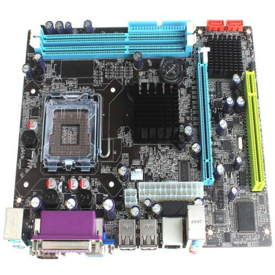 G41D3 Micro ATX LGA 775 Intel G41 Dual-Channel DDR3 MotherboardMotherboards<br>G41D3 Micro ATX LGA 775 Intel G41 Dual-Channel DDR3 Motherboard<br><br>Model: G41D3<br>Material: Copper<br>Type: Motherboards<br>Audio Interface: 6 Channel<br>Form Factor: Micro ATX<br>SATA 3Gb/s: 2<br>Chip-set Manufacturer: Intel<br>Interface: DVI,IDE,PCI,PCI Express,PS/2,SATA III,USB2.0<br>HDMI: No<br>North Bridge Chip: Intel G41<br>Audio Chip-set: Realtek ALC662<br>Video Chip-set: Intel GMA X4500<br>CPU Socket Type: LGA 775<br>Memory Standard: DDR3<br>Max. Memory: 8GB<br>Channel Support: Dual-Channel<br>LAN Chipset: Realtek RTL8111EL<br>DVI: Yes<br>Product weight: 0.402KG<br>Package weight: 0.695 KG<br>Product size: 23.50 x 18.20 x 3.80 cm / 9.25 x 7.17 x 1.5 inches<br>Package size: 29.00 x 26.00 x 4.80 cm / 11.42 x 10.24 x 1.89 inches<br>Package Contents: 1 x G41D3 Micro ATX LGA 775 Intel G41 Motherboard, 1 x  English User Manual, 1 x Software CD, 1 x SATA Cable ( 43cm ), 1 x I / O Iron Plate