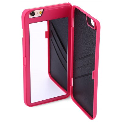 Mirror Design Credit Card Slot Leather Cover Case for iPhone 6 Plus 6S Plus