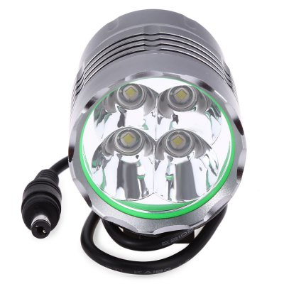 Cree T6 4 LEDs Mountain Bicycle Lamp Bike Light HeadlightHeadlights<br>Cree T6 4 LEDs Mountain Bicycle Lamp Bike Light Headlight<br><br>Function: Camping,Hiking,Night Riding<br>Feature: Can be used as headlamp or bicycle light<br>Luminous Flux: 5200Lm<br>Main Lamp Beads: Cree T6<br>Beads Number: 4 x Cree XML T6<br>Mode: 3 (High; Low; Strobe)<br>Switch Type: Press<br>Switch Location: Bottom<br>Battery Type: Li-ion<br>Power Source: Battery,Mobile Power Bank<br>Reflector: Aluminum Smooth Reflector<br>Lens: Glass Lens<br>Focus: Yes<br>Rechargeable: Yes<br>Available Light Color: White<br>Body Material: Aluminium Alloy<br>Product weight: 0.457KG<br>Package weight: 0.538 KG<br>Product size (L x W x H): 5.50 x 4.70 x 4.70 cm / 2.17 x 1.85 x 1.85 inches<br>Package size (L x W x H): 22.50 x 7.50 x 7.50 cm / 8.86 x 2.95 x 2.95 inches<br>Package Contents: 1 x Cree T6 LED 5200Lm Bicycle Headlamp Bike Light Waterproof Flashlight, 1 x Head strap, 1 x Charger, 1 x Power Bank, 2 x O Style Circle