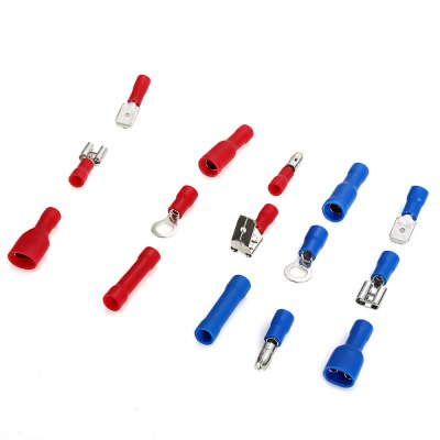 200PCS Electrical Crimp Butt Connector Insulated Terminals