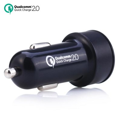 QC2.0 Dual USB Car Charger Adapter