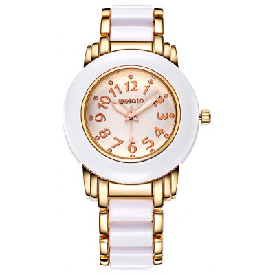 WeiQin W4559 Round Dial Double Scales Female Quartz Watch