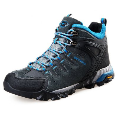 Male Low Boot Climbing Shoes Cow Leather Vamp