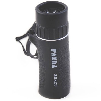 PANDA 30 x 25 Porro BAK4 Prism MonocularBinoculars and Telescopes<br>PANDA 30 x 25 Porro BAK4 Prism Monocular<br><br>Brand: PANDA<br>Type: Telescopes<br>For: Bird watching,Boating/Yachting,Outdoor activities,Travel<br>Material: Aluminium Alloy,Rubber<br>Focusing System: Individual Eyepiece Focus<br>Color: Black<br>Prism System and Material: Porro BAK4<br>Body Coated with Rubber: Yes<br>Amplification Factor: 30X<br>Objective Lens (mm) : 25mm<br>Eyepiece Diameter: 15mm<br>Exit pupil diameter: 22mm<br>Exit pupil distance: 10mm<br>Coating Film: objective lens coated with green film / eyepiece coated with blue film<br>Product weight: 0.110 kg<br>Package weight: 0.230 kg<br>Product size (L x W x H): 9.50 x 3.00 x 3.00 cm / 3.74 x 1.18 x 1.18 inches<br>Package size (L x W x H): 4.00 x 4.50 x 11.00 cm / 1.57 x 1.77 x 4.33 inches<br>Package Contents: 1 x PANDA 30X 25 Monocular, 1 x Pouch, 1 x Wipe Clean Cloth