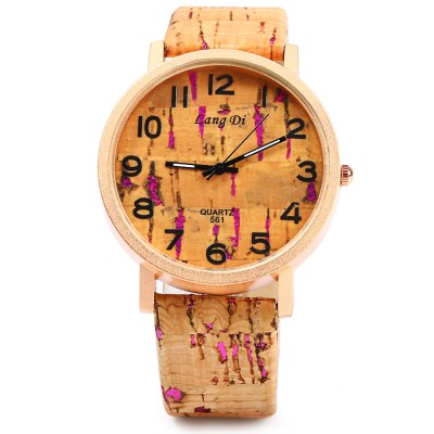 Lang Di 561 Wood-like Quartz Female Watch Leather BandWomens Watches<br>Lang Di 561 Wood-like Quartz Female Watch Leather Band<br><br>Watches categories: Female table<br>Available color: Black,Blue,Green,Purple,Silver<br>Style: Fashion&amp;Casual<br>Movement type: Quartz watch<br>Shape of the dial: Round<br>Display type: Analog<br>Case material: Stainless Steel<br>Band material: Leather<br>Clasp type: Pin buckle<br>The dial thickness: 0.8 cm / 0.315 inches<br>The dial diameter: 4 cm / 1.575 inches<br>The band width: 1.9 cm / 0.748 inches<br>Wearable length: 17.5 - 21.7 cm / 6.890 - 8.543 inches<br>Product weight: 0.030KG<br>Package weight: 0.060 KG<br>Product size (L x W x H): 24.100 x 4.200 x 0.800 cm / 9.488 x 1.654 x 0.315 inches<br>Package size (L x W x H): 25.100 x 5.200 x 1.800 cm / 9.882 x 2.047 x 0.709 inches<br>Package Contents: 1 x Lang Di 561 Watch