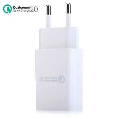 QC2.0 Quick USB Charger Power Adapter EU PlugiPhone Cables &amp; Adapters<br>QC2.0 Quick USB Charger Power Adapter EU Plug<br><br>Type: Power Adapter<br>Compatible Devices: Universal<br>Color: Black,White<br>Product weight: 0.038 kg<br>Package weight: 0.050 kg<br>Product size (L x W x H): 8.20 x 3.90 x 2.20 cm / 3.23 x 1.54 x 0.87 inches<br>Package size (L x W x H): 9.00 x 4.50 x 3.00 cm / 3.54 x 1.77 x 1.18 inches<br>Package Contents: 1 x QC2.0 AC / DC Quick Charger USB Power Adapter