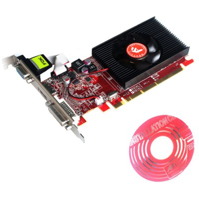 HD6450 Graphics Card ATI Radeon HD6450Graphics &amp; Video Cards<br>HD6450 Graphics Card ATI Radeon HD6450<br><br>Built-in Cooler Fan: Yes<br>Core Frequency: 750MHz<br>Effective Memory Clock: 3600MHz<br>Interface: DVI, HDMI, PCI-E, VGA<br>Manufacturing Process: 40nm<br>Material: Metal<br>Model: HD6450<br>Package size: 23.00 x 15.00 x 4.00 cm / 9.06 x 5.91 x 1.57 inches<br>Package weight: 0.2560 kg<br>Packing List: 1 x HD6450 Graphics Card, 1 x CD Driver<br>PCI Express Type: X4<br>Product size: 16.50 x 12.00 x 2.00 cm / 6.5 x 4.72 x 0.79 inches<br>Product weight: 0.1360 kg<br>RAMDAC: 400MHz<br>Supports System: Win8 32, Win 2000, Win 2008, Win vista, Win XP, Win7 32, Win7 64<br>Video Card Memory Capacity: 1G<br>Video Memory Bit Wide: 64 Bit