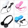 Retractable Foldable Over-ear Headphone with Mic Stereo Bass photo