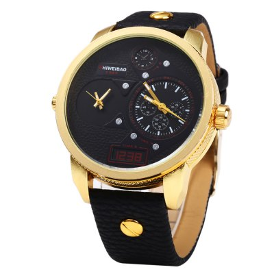 Shiweibao A3135 Leather Band Big Dial Dual Quartz Movt Male WatchMens Watches<br>Shiweibao A3135 Leather Band Big Dial Dual Quartz Movt Male Watch<br><br>Brand: Shiweibao<br>Watches categories: Male table<br>Watch style: Business,Fashion<br>Available color: Blue,Gold and Brown,Red,White,Yellow<br>Movement type: Double-movtz<br>Shape of the dial: Round<br>Display type: Analog<br>Case material: Stainless Steel<br>Band material: Leather<br>Clasp type: Pin buckle<br>Special features: Decorating small sub-dials,Working small two stitches<br>Water resistance : 30 meters<br>The dial thickness: 0.9 cm / 0.35 inches<br>The dial diameter: 4.6 cm / 1.81 inches<br>The band width: 1.2 cm / 0.47 inches<br>Wearable length: 19.3 - 23.7 cm / 7.60 - 9.33 inches<br>Product weight: 0.067 kg<br>Package weight: 0.097 kg<br>Product size (L x W x H): 26.70 x 5.40 x 0.90 cm / 10.51 x 2.13 x 0.35 inches<br>Package size (L x W x H): 27.70 x 6.40 x 1.90 cm / 10.91 x 2.52 x 0.75 inches<br>Package Contents: 1 x Shiweibao A3135 Watch