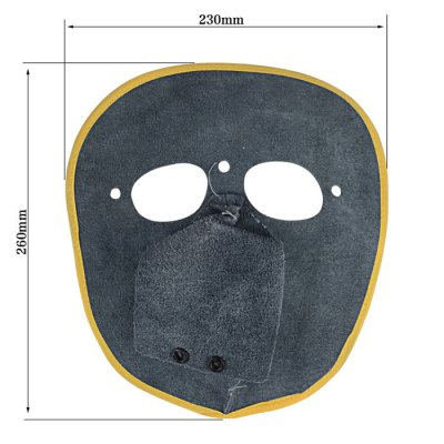 Leather Welding Mask Portable Fire Insulation Flexible and Breathable