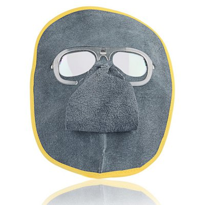 Фотография Leather Welding Mask Portable Fire Insulation Flexible and Breathable