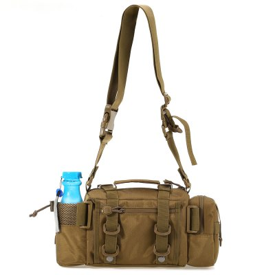 Multifunction Outdoor Sport Messenger Bag Lure Waist Pack Fishing Tackle HandbagWaistpacks<br>Multifunction Outdoor Sport Messenger Bag Lure Waist Pack Fishing Tackle Handbag<br><br>For: Camping,Cycling,Hiking,Mountaineering,Travel<br>Material: Nylon<br>Features: Ultra Light<br>Color: Khaki<br>Product weight: 0.597 kg<br>Package weight: 0.618 kg<br>Product size (L x W x H): 35.00 x 11.00 x 18.00 cm / 13.78 x 4.33 x 7.09 inches<br>Package size (L x W x H): 36.00 x 12.00 x 19.00 cm / 14.17 x 4.72 x 7.48 inches<br>Package Contents: 1 x Multifunction Outdoor Sport Messenger Bag Lure Waist Pack Fishing Tackle Handbag