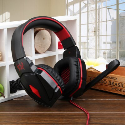 KOTION EACH G4000 Noise Cancelling Wired Stereo Gaming HeadsetSpeakers<br>KOTION EACH G4000 Noise Cancelling Wired Stereo Gaming Headset<br><br>Sensitivity: 114dB Plus or Minus 3dB<br>Directivity: Omnidirectional<br>Brands: KOTION EACH<br>Model: G4000<br>Design: Cool,Portable,Stylish<br>Compatible with: iPhone,iPod,Laptop,Mobile phone,MP3,MP4,MP5,PC,Tablet PC<br>Supports: LED Shinning,Microphone,Remote Control<br>Functions: Noise Cancelling,Stereo<br>Connection: Wired<br>Interface: 3.5mm Audio,USB2.0<br>Audio Source: Electronic Products with 3.5mm Plug,Electronic Products with USB port<br>Certificate: CE<br>Material: ABS<br>Color: Red<br>Driver unit: 50mm<br>Speaker Impedance: 32 ohm<br>Freq: 20Hz-20KHz<br>Product weight: 0.321 kg<br>Package weight: 0.460 kg<br>Product size (L x W x H): 18.00 x 8.50 x 20.00 cm / 7.09 x 3.35 x 7.87 inches<br>Package size (L x W x H): 19.30 x 9.50 x 21.00 cm / 7.6 x 3.74 x 8.27 inches<br>Package Contents: 1 x KOTION EACH G4000 Noise Cancelling HiFi Stereo Headphone