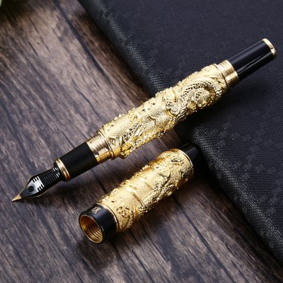 Jinhao Dragon Play Bead Embossed Ink Signature Fountain Pen