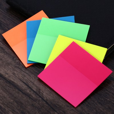 5PCS Self-adhesive Colored Fluorescence Sticking Memo Sticky Notes
