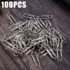 100PCS 29mm Electroplated Stainless Steel Bookmark Paperclip
