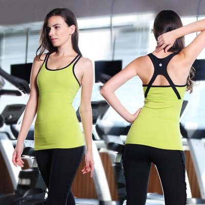 Female Fitness Yoga TankYoga<br>Female Fitness Yoga Tank<br><br>Types 1: Yoga Tanks<br>Type: Vest<br>Gender: Female<br>Size: L,M,S<br>Features: Breathable,High elasticity<br>Material: Nylon,Spandex<br>Color: Blue,Peach,Purple,Yellow<br>Product weight: 0.140 kg<br>Package weight: 0.190 kg<br>Package size: 25.00 x 18.00 x 2.00 cm / 9.84 x 7.09 x 0.79 inches<br>Package Content: 1 x Female Fitness Yoga Tank
