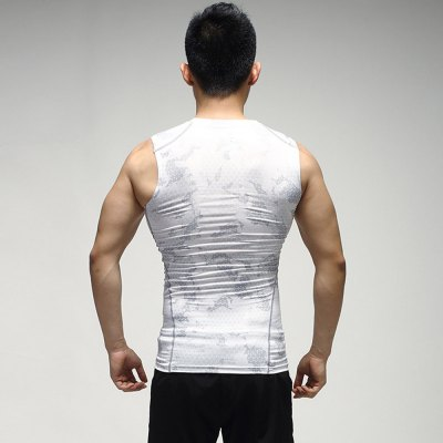 Male Close-fitting Exercising Vest