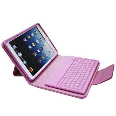 ФОТО P6300 Bluetooth 3.0 Keyboard Leather Cover Case for iPAD Mini