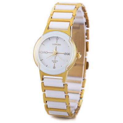 Longbo 8493 Women Quartz WatchWomens Watches<br>Longbo 8493 Women Quartz Watch<br><br>Brand: Longbo<br>Watches categories: Female table<br>Style: Fashion&amp;Casual<br>Movement type: Quartz watch<br>Shape of the dial: Round<br>Display type: Analog<br>Case material: Stainless Steel<br>Band material: Stainless Steel<br>Clasp type: Folding clasp with safety<br>Water resistance : 30 meters<br>The dial thickness: 0.6 cm / 0.24 inches<br>The dial diameter: 2.6 cm / 1.02 inches<br>The band width: 1.1 cm / 0.43 inches<br>Product weight: 0.040KG<br>Package weight: 0.080 KG<br>Product size (L x W x H): 9.00 x 3.00 x 1.00 cm / 3.54 x 1.18 x 0.39 inches<br>Package size (L x W x H): 10.00 x 4.00 x 2.00 cm / 3.94 x 1.57 x 0.79 inches<br>Package Contents: 1 x Longbo Women Quartz Watch