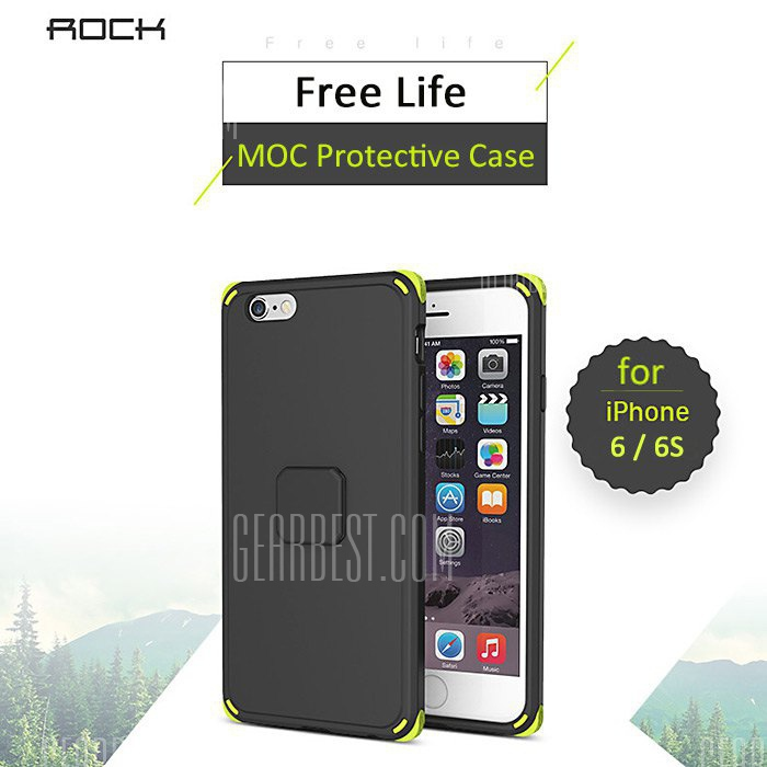 ROCK MOC Magnetic Back Case for iPhone 6 / 6S TPU PC Material