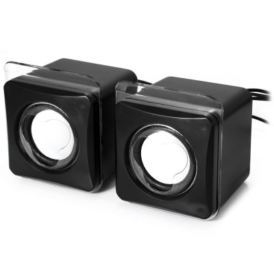 MK-G104 USB 2.0 Mini Passive SpeakerSpeakers<br>MK-G104 USB 2.0 Mini Passive Speaker<br><br>Model: MK-G104<br>Design: Mini,Portable<br>Compatible with: iPod,Laptop,Mobile phone,MP3,MP4,PC<br>Supports: Volume Control<br>Connection: Wired<br>Interface: 3.5mm Audio,USB2.0<br>Audio Source: Electronic Products with 3.5mm Plug,Electronic Products with USB port<br>Color: Black<br>Speaker Impedance: 4 ohm<br>Total Power: 5W<br>S/N: 65dB<br>Product weight: 0.194 kg<br>Package weight: 0.256 kg<br>Product size (L x W x H): 7.30 x 6.50 x 8.50 cm / 2.87 x 2.56 x 3.35 inches<br>Package size (L x W x H): 16.00 x 8.50 x 8.60 cm / 6.30 x 3.35 x 3.39 inches<br>Package Contents: 2 x Speaker