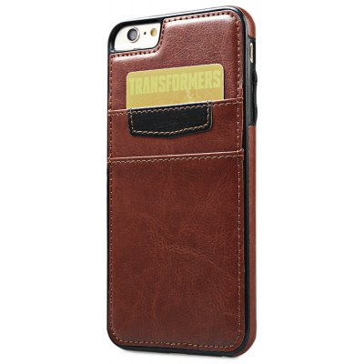 Wallet Card Slot Leather Back Case Skin for iPhone 6 Plus / 6s Plus