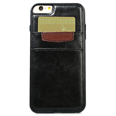 Wallet Card Slot Leather Back Case Skin for iPhone 6 Plus / 6s PlusiPhone Cases/Covers<br>Wallet Card Slot Leather Back Case Skin for iPhone 6 Plus / 6s Plus<br><br>Features: Back Cover,Wallet Case,With Credit Card Holder<br>Material: PU Leather<br>Style: Modern<br>Color: Black,Brown<br>Product weight: 0.047 kg<br>Package weight: 0.068 kg<br>Product size (L x W x H): 16.00 x 7.80 x 1.00 cm / 6.30 x 3.07 x 0.39 inches<br>Package size (L x W x H): 17.00 x 8.00 x 2.00 cm / 6.69 x 3.15 x 0.79 inches<br>Package Contents: 1 x Case Back Cover for iPhone 6 Plus / 6s Plus